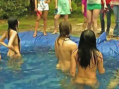 Free Porn Sorority Girls Haze Little Ladies In A Homemade Pool Outdoors