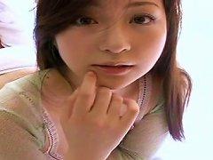 Free Porn Beautiful Japanese Teen Natsuko Tatsumi Eating Fruits With Whipped Cream
