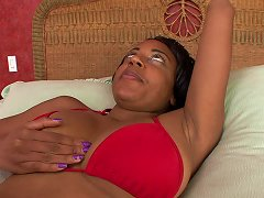 Free Porn Ebony With Huge Tits Rides White Dick In Bed