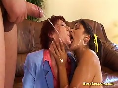 Free Porn Anal Loving Teen And MILF Gives A Hot Rimjob For Our Boss