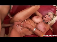 Free Porn Blonde Mature With Massive Melons Fucks Younger Man