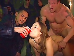 Free Porn Drunk Brunette Teen Gets Fucked In A Party By A