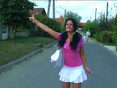 Free Porn Hitchhiking Honey Blows A Stranger's Cock Passionately