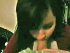 Free Porn Black Haired Woman Sucking Massive Dick Deepthroat