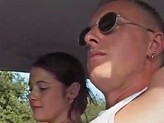 Free Porn Sexy Chick Karina Sucks Her Man Outdoors Then Gets Fucked In The Car