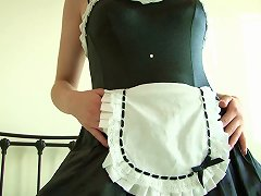 Free Porn Brunette Wears Frilly, Seductive Maid's Uniform.. Ooo Spank Me!