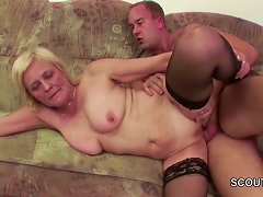 Free Porn Young Boy Seduce Granny In Stockings To Fuck And Facial