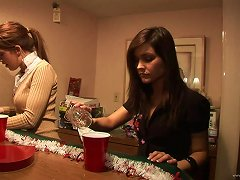 Free Porn Alluring Brunette Lesbian With Natural Tits Getting Drunk In Homemade Porn