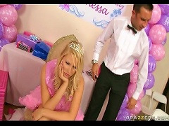 Free Porn Sexy Blonde Teen Is Not Pleased With Her Presents As She Wants A  For Her Sweet 18
