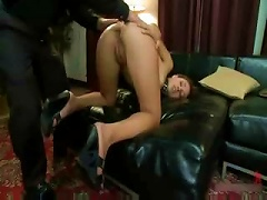 Free Porn Teen With Ponytail And Collar Fucked In The