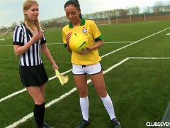 Free Porn A Female Soccer Player And Female Ref Eat Pussy After A Match