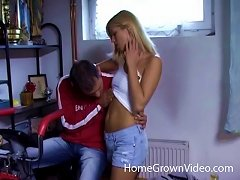 Free Porn Super Cute Blonde Lets Her Boyfriend Bang Her In The Ass