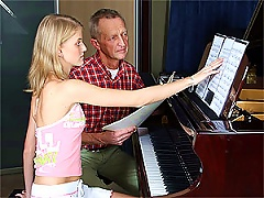 Free Porn Cute Blonde Teen Gets Fucked Doggy Style By Her Old Piano Teacher