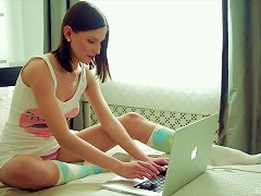 Free Porn Teen Does A Webcam Striptease For Her Lucky Boyfriend