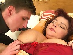 Free Porn Huge Breasted Bbw Not Mother Sucking And Fucking Young Cock