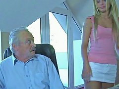 Free Porn Ugly Grandpa Fucks Teen Blonde Chick And Gets His Cock Sucked Well