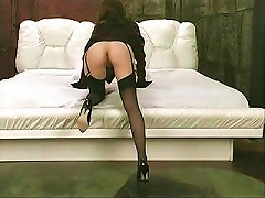 Free Porn Lovely Middle-aged Whore In Black Stockings Gets Herself Very Horny