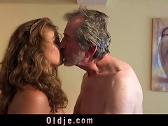 Free Porn Playful Sweet Teen Gives Grandpa Incredible Sex