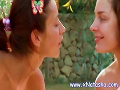 Free Porn Lesbian Teens Have A Threesome Outside With Hot And Heavy  Rubbing