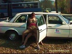 Free Porn Taxi Diver Fucks Teen Anal In Public