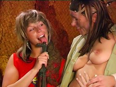 Free Porn Army Girls Relieve Themselves By Having A Naughty Lesbian Orgy