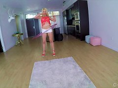 Free Porn Teen Babe Puts Down The Hula Hoop And Goes After His Cock