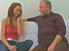 Free Porn Old Fart Fucks A Teen Girlfriend With A Young Stud