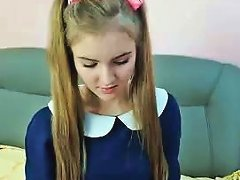 Free Porn Blonde Cutie With Pigtails Takes Off Her Shirt To Reveal A