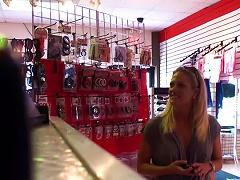 Free Porn Kinky Blonde Teen Fucks A Guy In A Store's Dresser