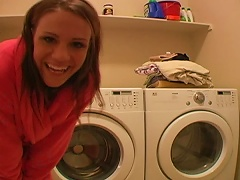 Free Porn Horny Teen Riding A   Of A Washing Machine