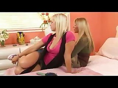 Free Porn Awesome Lesbian MILF Seduces Her Young  And Tasty Step Daughter