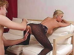 Free Porn Blonde Russian Milf Gets Fucked By A Big Teen Cock