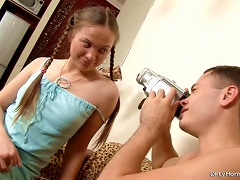 Free Porn Teen With Braids Has Her Slit Drilled.