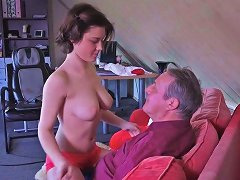 Free Porn Cute Teen With Big Natural Boobs Enjoys Having Sex With Old Man