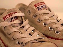 Free Porn My Sister's Shoes: Converse Low White (dirty) I 4k