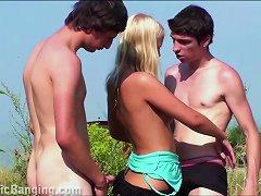 Free Porn Blonde Teen Girl Public Street Gangbang Threesome Orgy