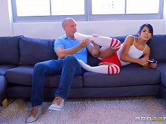 Free Porn Sporty Teen In Sexy Red Shorts And Knee Highs Fucked Hard