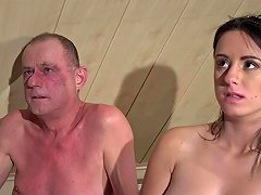Free Porn Big Tits Old Young Threesome Grandpa Fucks Beautiful Teen Girls Cum Swap
