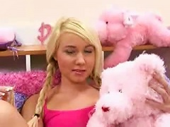 Free Porn Pink Room Is Home To A Blonde Slut For Cock