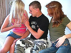 Free Porn Lovely Teen Girls Arouse A Military Man.