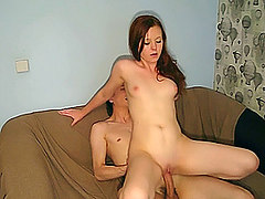 Free Porn Totally Shaved Pussy Looks Great As She Rides Cock.