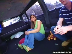 Free Porn Teddy Wanksta Hooks Up A Sexy Latina Teen By The Bangbus