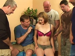 Free Porn Wild Teen Kelsey Tyler Gets Gangbanged By A Pack Of Horny Men