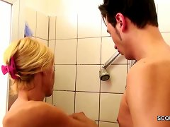 Free Porn German Milf Seduce To Fuck By Step-son Big Dick In Shower