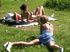 Free Porn Beautiful And Joyful Blonde Teen In The Park Flashes Her Pussy