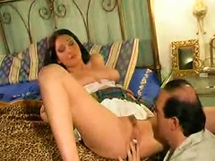 Free Porn Dude Goes Down On A Big Titty Young Girl
