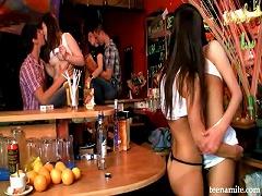 Free Porn Teen Lesbians In The Bar