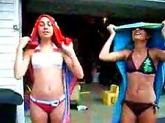 Free Porn Hot Turkish Teens In Bikini Putting On Their Turbants