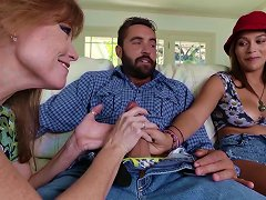 Free Porn Top Cock Sharing Along Karter Foxxx And Darla Crane