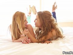 Free Porn Two Of The Sexiest Teen Babes Are Always Happy To Share The Dick